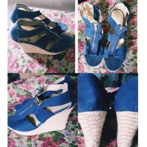 Women's Jean Wedges